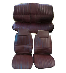 1983-1984 Hurst Olds Cutlass 442 Maple Red VINYL Front & Rear Seat Covers Set
