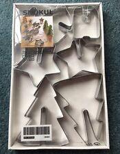 Ikea Designed Johan Kroon Metal 3-D Star Christmas Tree Reindeer Cookie Cutters