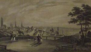 Kolorierter Kupferstich Hamburg um 1850                                    /4968