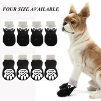Knitted Dog Socks Non-Slip Protective Paw Print Pet Puppy Shoes m