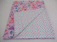 Princess lavender/pink baby,infant,toddler flannel swaddle crib size blanket.
