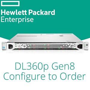 """HP DL360p Gen8 8x 2.5 """" Configure Jusque: 2x Xeon Ten Coeur,128GB RAM & Rack"""