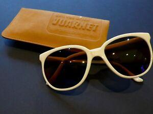 80sUnused VUARNET OffWhite CatEye Sunglasses Skilynx Acier Lens/Pouilloux FRANCE
