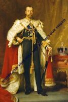 mm639 - King George V in Coronation robes 1911 - art portrait - photograph 6x4