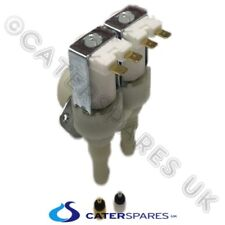 ICE MAKER MACHINE DOUBLE TWIN 90º DEG ANGLED WATER SOLENOID VALVE & FLOW REDUCER