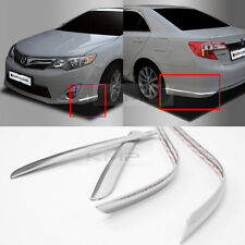 Chrome Front Rear Bumper Edge Moldings Trim 4P Set for 2012 - 2014 TOYOTA Camry