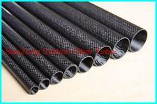 2pcs 10MM OD X 8MM ID X 500MM 100% Roll Wrapped Carbon Fiber Tube 3K /Glossy US