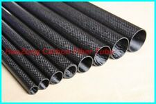 2pcs Roll Wrapped Carbon Fiber Tube 3K 12mm*14mm*500mm Best Quality Glossy Tube