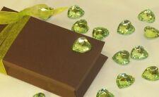50 Confettis COEUR Strass Facettes VERT Décoration de Table Mariage Baptême Fête