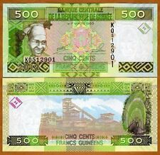 Guinea / Africa, 500 Francs, 2012, Pick 39b, UNC > colorful