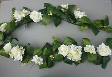 Artificial Ivory Hydrangea & Ivory Rose Garland Wedding/Festival Decoration H1