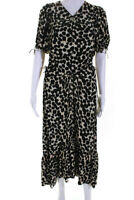 Proenza Schouler Womens Printed Short Sleeve Cinched Dress Black Size 8 12591518