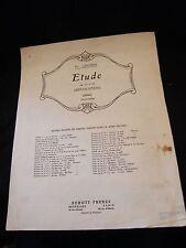Partition Etude op 10 No.12 Revolution Fr Chopin Grand Format