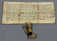 1411   vellum manuscript Burton-on-Trent cattesstrete [Cat Street] half burgage