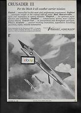 Risque Vought Avion Dallas,Tx 1958 F8U-1 Crusader 3 Mach 2 en Toutes Saisons