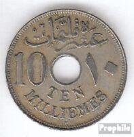 Ägypten KM-Nr. : 316 1917 H sehr schön Kupfer-Nickel 1917 10 Milliemes Hussein K