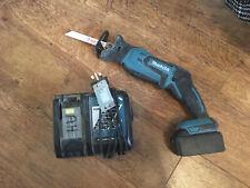 Makita DJR185 Mini Cordless 18v Reciprocating Saw & Makita Battery + 18v Charger