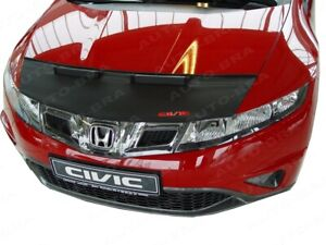 BONNET BRA fits HONDA CIVIC 8 2006 - 2012 WITH EMBROIDERED RED LOGO STONEGUARD