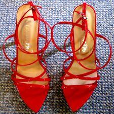 Damenschuhe, High Heels, Sandaletten, DEleventh, Gr 43, Absatz 12,5 cm, rot