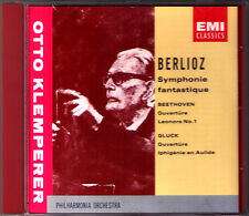 Otto Klemperer: Berlioz sinfonia fantastique Beethoven Leonore 1 GLUCK CD EMI