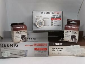 LOT OF Keurig - Rinse Pods, My K-Cup Filter, Water Filters, Side Reservoir, NEW