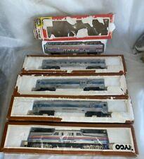 5 TYCO HO AMTREK TRAIN CARS