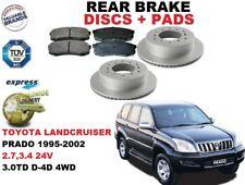 für Toyota Land Cruiser Prado 1995-2002 Bremsscheiben SET HINTEN+BREMSBELÄGE