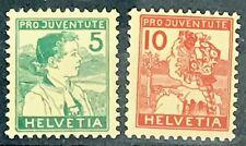 Switzerland #B2-B3 MNH CV$356.50 Pro-Juventute Appenzell/Lucerne