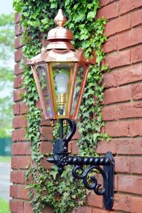 USED Ex-Display 88cm Deluxe Copper Hexagonal Garden Wall Light Set With Bracket