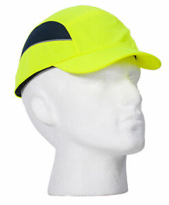 Portwest PS59 AirTech Protective HiVis Safety Bump Cap with Breathable Mesh Side