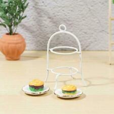 1:12 Doll House Mini Cake Stand Dish Simulation Model Kitchen-Accessories+2*dish