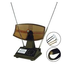 Rotating Antenna Indoor Rabbit Ear for Color TV UHF VHF HDTV 3ft Cable Universal