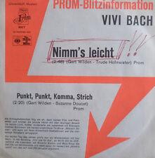 "7"" 1973 Promo Rare in Mint -! Vivi BACH: take's easy"