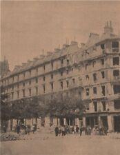 PARIS COMMUNE 1871 Barricade de l'Avenue Victoria apres armée Versailles c1873