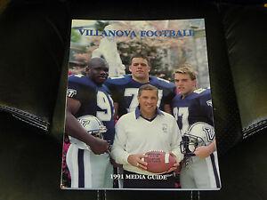 1991 VILLANOVA COLLEGE FOOTBALL MEDIA GUIDE EX-MINT  BOX 11