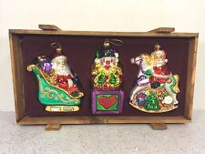 Thomas Pacconi Museum Series Xmas Ornaments in Wood Case Set #1