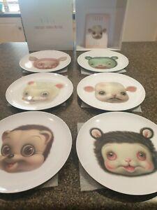 Mark Ryden Friendly Animal Plates Set Prints Limted Ed Sold Out Lowbrow Big Eye