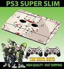 PLAYSTATION PS3 SUPER SLIM JASON VOORHEES Máscara Sangrienta Terror Grim Pegatina de la piel