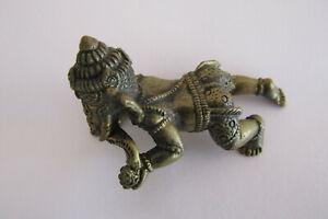 Lord Baby Ganesh Ganapati Ganesha Hinduism OM Brass statue Amulet Ba03