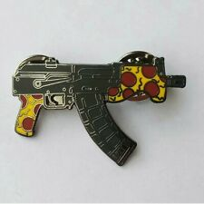 Collectable SnAks Ak47 Micro Draco Pizza Hat Pin
