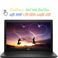 2020 Newest Dell 15.6 Touchscreen Laptop Dual-Core CPU 8GB RAM 1TB HDD Win 10