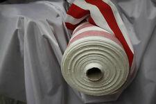 2 Meter Stoff 1,40 m breit Meterware gestreift Streifen rot weiß