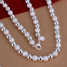 925 Sterling Silver Necklace Beads Balls B19