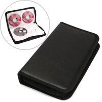80 Pcs CD DVD VCD Disc Holder Album Portable Folder Wallet Storage Case Bag