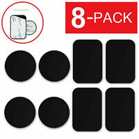 8* Slim Metal Plates Sticker Replace For Magnetic-Car Mount Mobile Phone Holder.