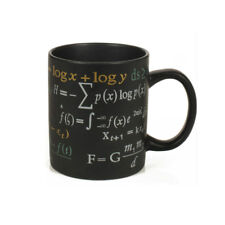 Funny Math Formulas Coffee Mug Black Porcelain Ceramic Tea Cup for Home Office