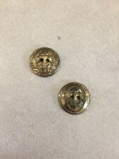 Lot Pair 2 Vtg US USN Navy Military Brass Nautical Anchor Two Hole Buttons 1.5cm
