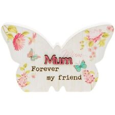Floral Butterfly Plaque Warm Words About Mum