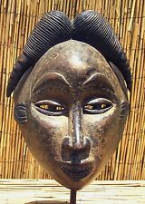"African Punu Maiden Spirit Mask From Gabon 13"" Tall"