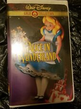 ALICE IN WONDERLAND~VHS, 2000~DISNEY GOLD CLASSIC COLLECTION~CLAMSHELL~FREE SHIP